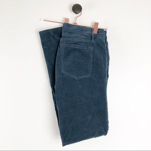 Loft Modern Skinny Corduroy Pants Green Blue Sz 27